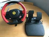 Xbox one thrustmaster Ferrari driving wheel and Forza horizon 3