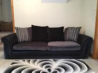 Black and grey sofa