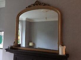 Mantle piece mirror (over fire mirror)