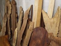 Slabs of Hardwood Timber for DIY projects. Oak, Elm, Yew etc