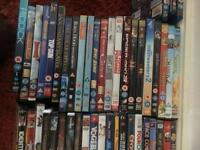 127 DVDs and 3 Blu-rays.