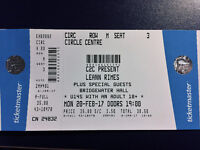Leann Rimes ticket Manchester Bridgewater Hall Monday 20th Feb 19.00