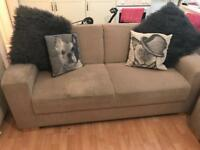 John Lewis wheat two seater sofa & chair