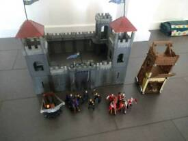 Toy castle and knights
