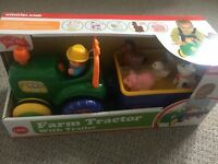 Toy tractor with trailer