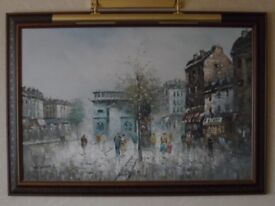 Framed oil painting by unknown artist