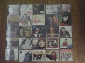 25 cds female pop/rock small job lot.