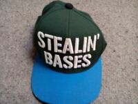 BASEBALL CAP 'STEALIN' BASES' - treasure for true fans - NEVER WORN/NEW CONDITION - accept any offer