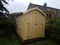 NEW HIGH QUALITY T&G 8x8 BARN £829.00 ANY SIZE (FREE DELIVERY AND INSTALLATION)