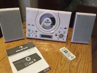 AUNA MC-120 HI-FI STEREO SYSTEM MP3 CD PLAYER USB WHITE