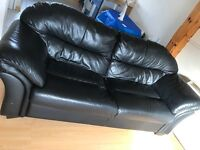 Sofa leather black