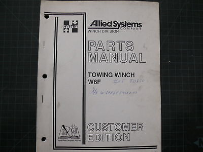 Hyster W6f Towing Winch Parts Book Manual Cat 1990 List Tractor Crawler Catalog