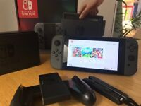 Nintendo Switch Console Grey with Mint Boxed with reciept