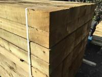 🍁Tanalised 190 X 90 X 2.4M Wooden Railway Sleepers