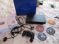 PS2 CONSOLE SCPH-30003 R CONSOLE BUNDLE BOXED,4 GAMES