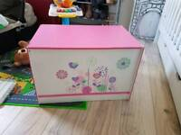 Kids toy box and book stand set