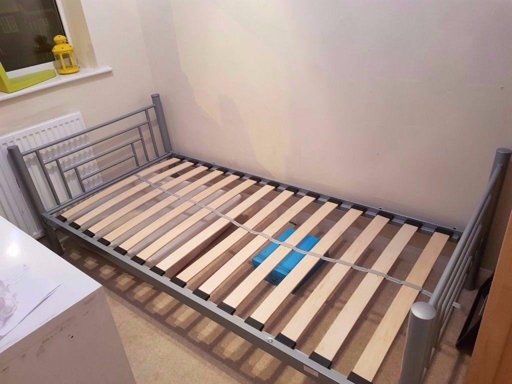 Grey Metal IKEA Svarta Bunk Bed