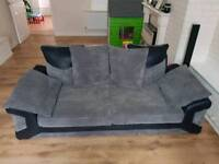 Great condition 3+2 black and grey sofa