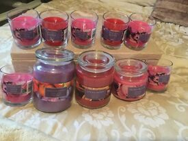 A range of beautifully scented candles