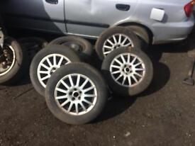 vw bora alloy wheels 195/65/15 tyres