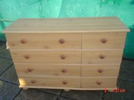 PINE EFFECT CHEST OF DRAWES