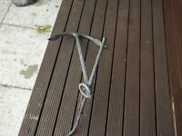 Two galvanised boat anchors,use at sea ,or garden features.