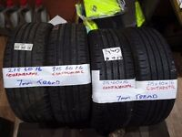 matching set 215 60 16 contis 6-7mm TREAD £50 PAIR SUP & FITD £90 SET OF 4(LOADS MORE AV 7-DAYS)