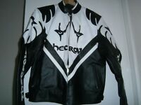 leather motor bike jacket