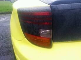 Toyota Celica passenger side rear lights.