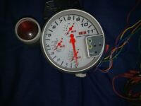 car tacho tachometer type r 5 inch hi-performance 4 in 1 red light shifter oil