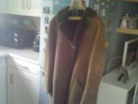 for sale mens genuine suede/sheepskin 3/4 length coat