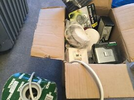Box full of electrical materials
