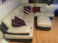 Grey trimmed with dark grey sofa q6 months old ' selling due to downsizing