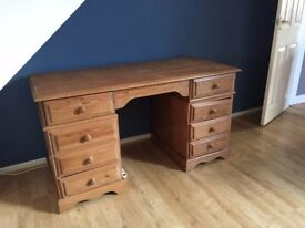 Beautiful solid pine desk - £100