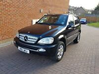 mercedes ml 270 cdi diesel auto leather hpi clear,private plate service history