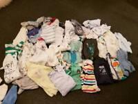 Huge baby boys babygrow bundle