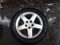 PEUGOET 407, 2006 ALLOY WHEEL AND TYRE, 5 STUD, FOR SALE