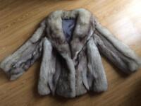GENUINE VINTAGE SILVER FOX FUR JACKET