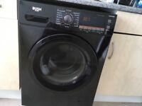 Bush washer/dryer black holds 8KG washing capacity of 7 drying