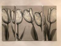 Next Tulip 3 piece painting.
