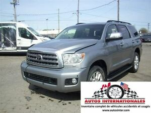 2013 Toyota Sequoia PLATINUM 4X4 V8 7PASS FULL BALLON OK EN MARC