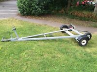 Large Galvanised Sailing / Fishing / rowing boat trailer and trolley Combi VGC 10-16ft boats