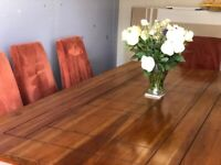 Large cherry wood dining table