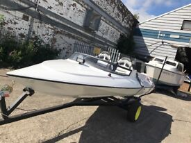 14ft sims super v speedboat with 70hp evinrude