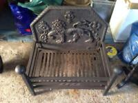 Kings Worthy Foundry Fire Place Basket Pit With Lion Design