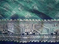Emerald Green Handwoven Banarasi 100% Silk Sari, blouse & skirt -Gold Zari embroidery PERFECT!