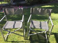 2 garden chairs foldable