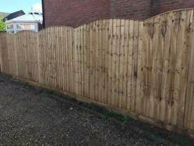 🐿 PRESSURE TREATED HIGH QUALITY WOODEN GARDEN FENCE PANELS
