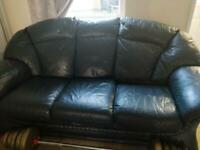 Dark greeny black sofa set 3 piece suite