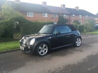Mini Cooper s 1.6 convertible automatic black low mileage 55100